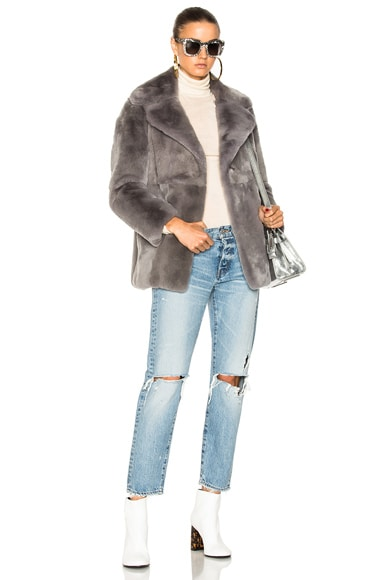 Sunday Rabbit Fur Coat