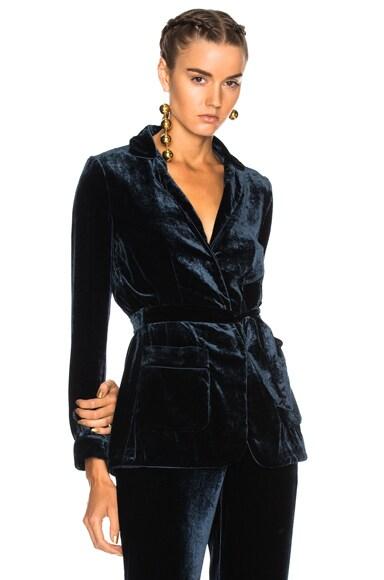 Velvet Wrap Jacket
