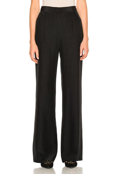 ALBERTA FERRETTI Silk Wide Leg Pants in Black
