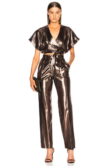 Metallic Silk Trousers