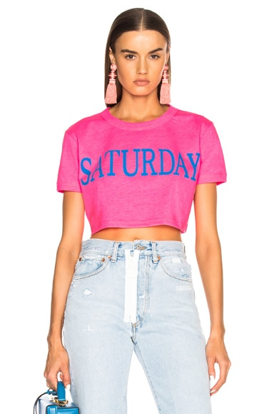 Saturday Cropped Tee