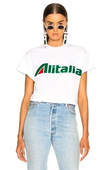 x Alitalia For FWRD Logo Tee
