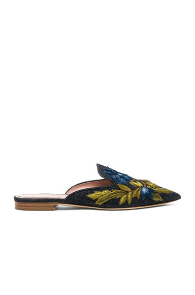 Denim Beaded Mules ALBERTA FERRETTI
