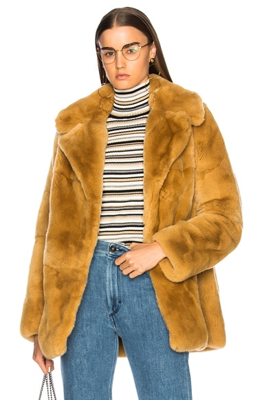 Rabbit Fur Stone Coat