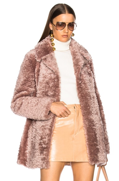 Lamb Shearling Stone Coat