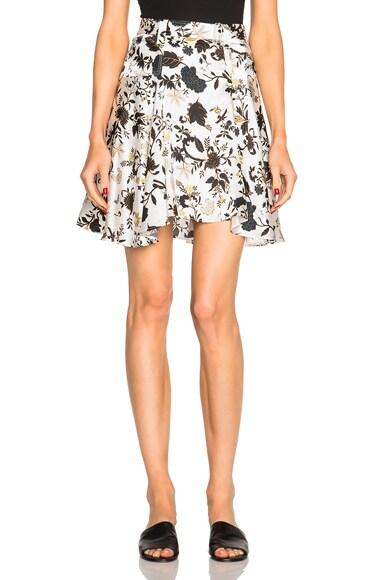 A.L.C. Brien Skirt in Eggshell & Black
