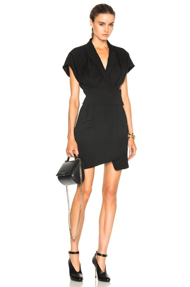 Alexandre Vauthier Japanese Crepe Blazer Dress in Black