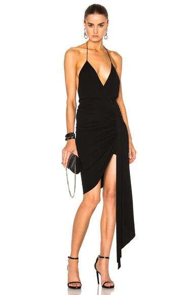 Alexandre Vauthier Deep V Mini Dress in Black