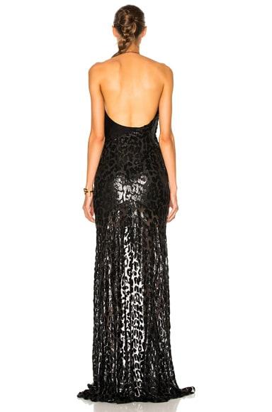 Lurex Leopard Gown