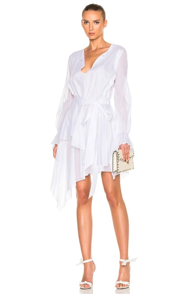 Alexandre Vauthier Cotton Voile Dress in White