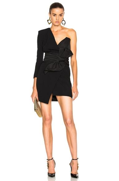 Alexandre Vauthier One Shoulder Dress in Black
