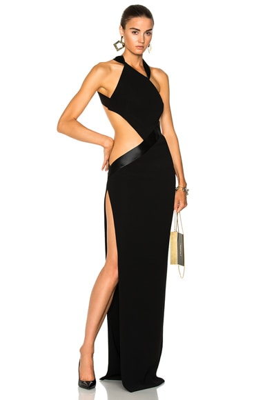 Japanese Crepe Cross Back Strap Gown