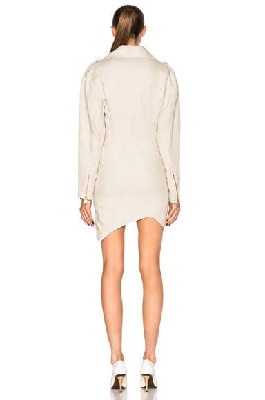 Belted Linen Dress