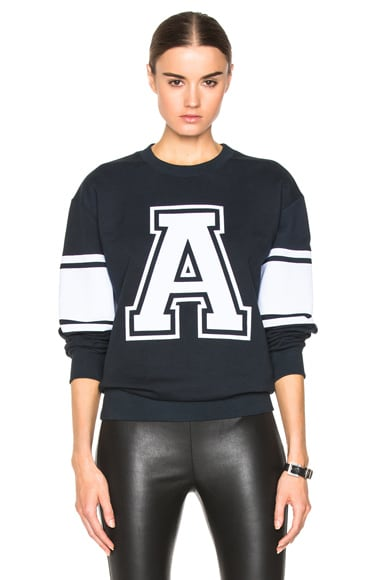 Alexandre Vauthier 'A' Sweatshirt in Navy & White