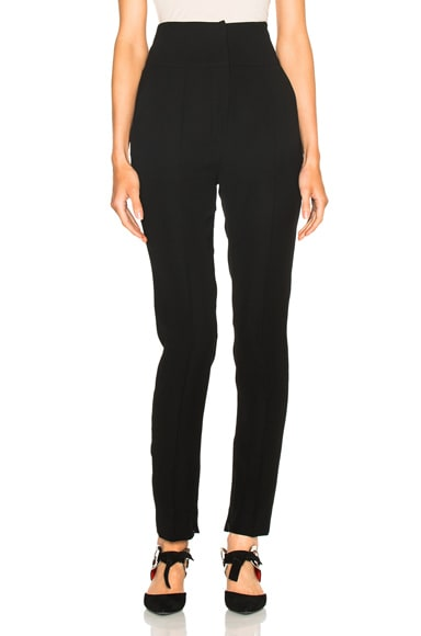 Alexandre Vauthier Japanese Crepe Trousers in Black