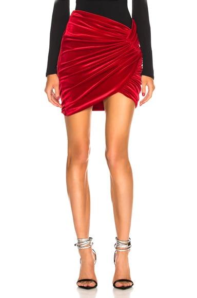 Velvet Twist Skirt