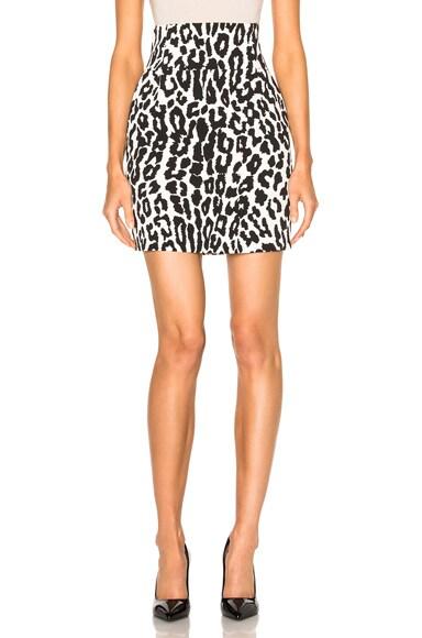 Leopard Crepe Skirt