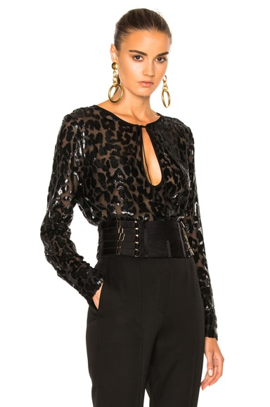 Lurex Leopard Top