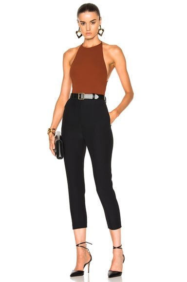 Stretch Jersey High Cut Bodysuit