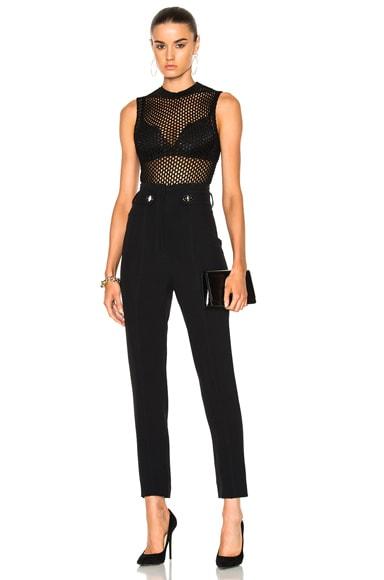 Knit Fishnet Sleeveless Bodysuit