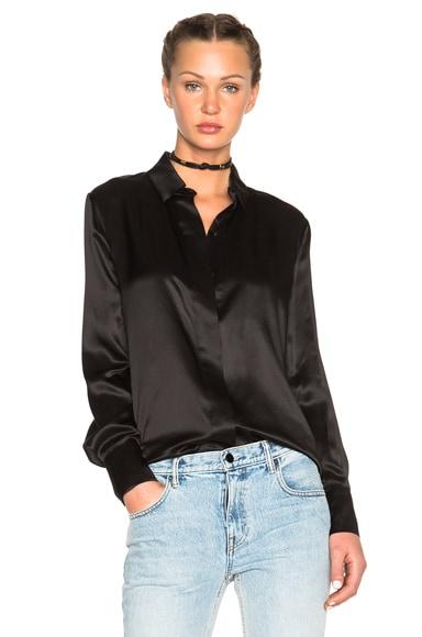 Alexandre Vauthier Silk Blouse in Black