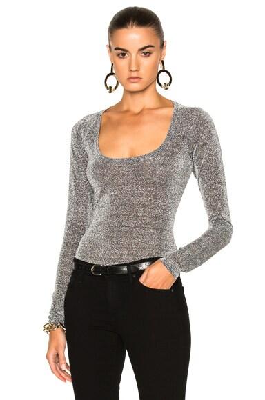 Alix Sullivan Bodysuit in Silver