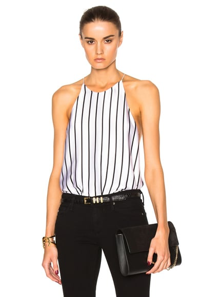 Alix Cornelia Bodysuit in Pin Stripe