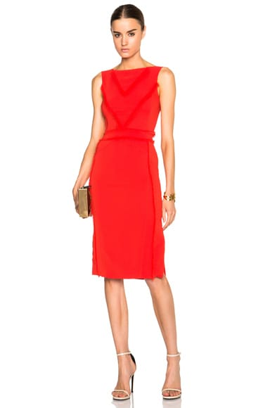 Altuzarra Caulfield Dress in Poppy Red