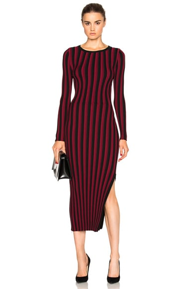 Altuzarra Amelia Dress in Red & Black Stripe