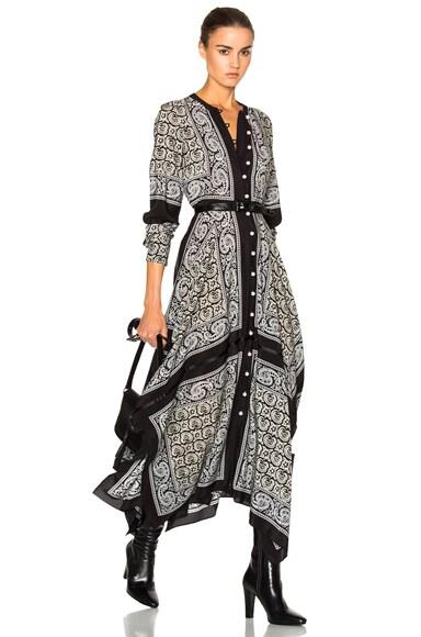 Altuzarra Winnie Dress in Black Paisley