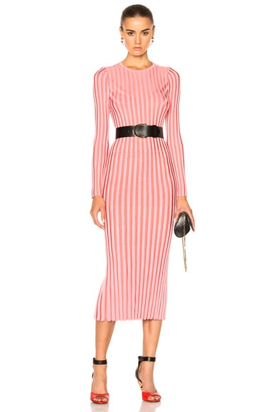 Altuzarra Gramm Sweater Dress in Peony