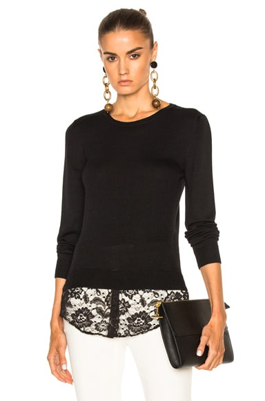 Altuzarra Walkaloosa Sweater with Lace in Black