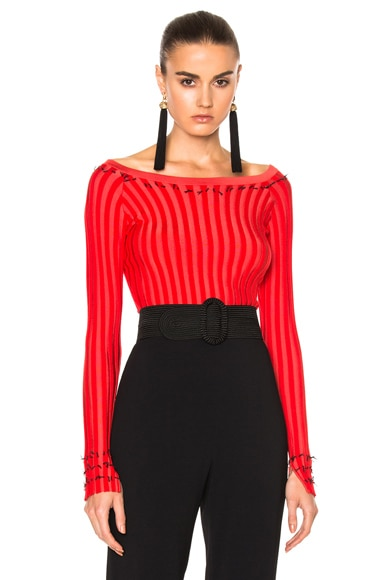 Altuzarra Tatum Sweater in Fiesta Red