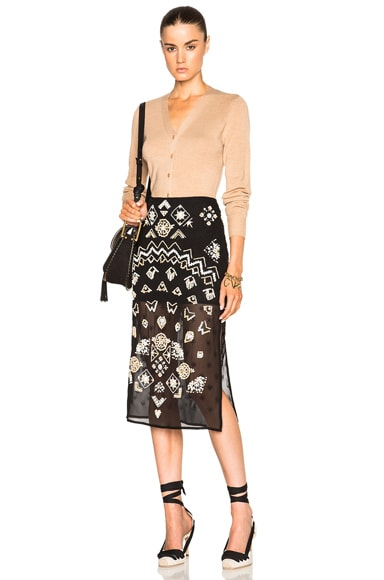 Zeramika Tiny Floral Embroidered Skirt