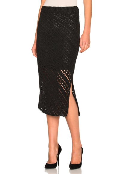 Altuzarra Miller Knit Skirt in Black