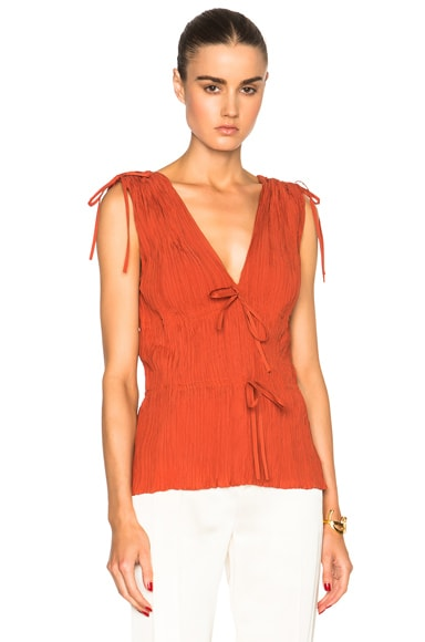 Altuzarra Ayumi Featherweight Crepe Top in Windsor