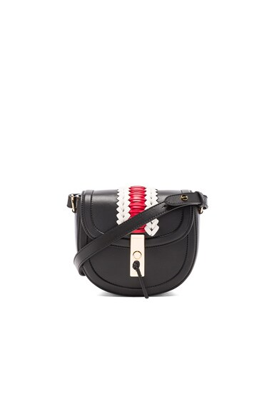 Altuzarra Ghianda Saddle Mini Embroidered in Black