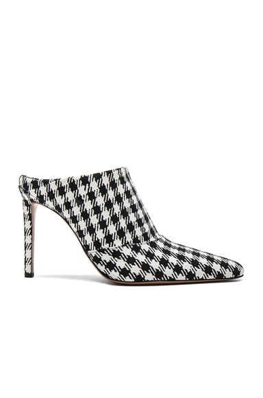 Altuzarra Canvas Davidson Mules in Black & White