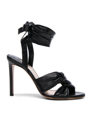 Altuzarra Leather Zuni Heels in Black