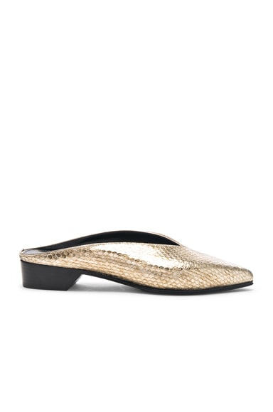 Python Embossed Pointy Almond Flats