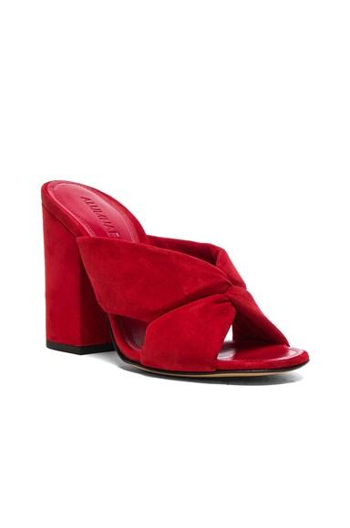 Soft X-Slide Block Suede Heel Sandals
