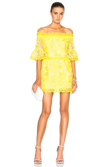 Alexis Kit Dress in Yellow Embroidery
