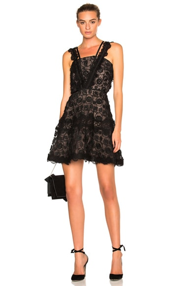 Alexis Mindy Dress in Black Lace