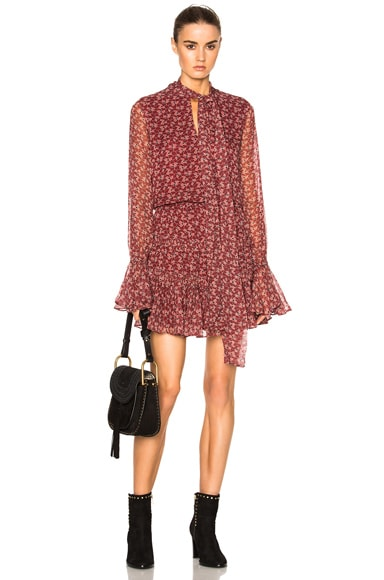 Alexis Elida Dress in Rust Floral
