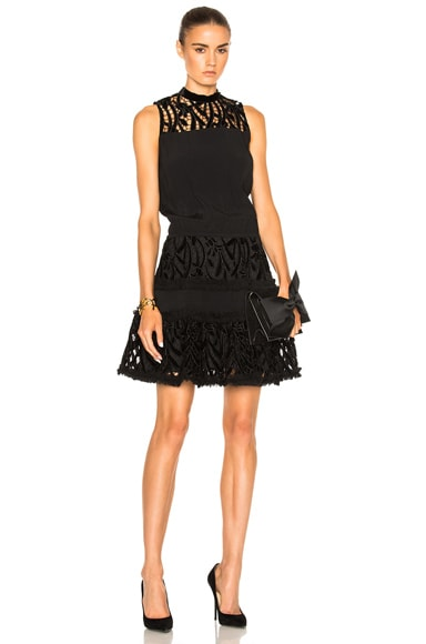 Alexis Sterling Dress in Black Velvet
