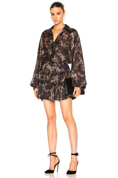 Alexis Loe Dress in Blooming Black