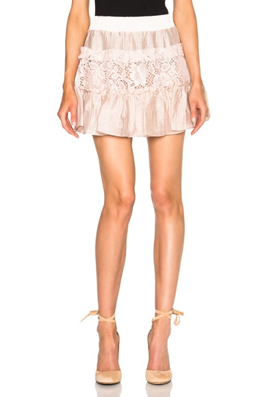 Alexis Mallory Skirt in Blush Lace
