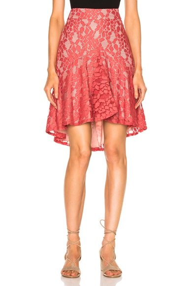 Alexis Braxten Skirt in Salmon Lace
