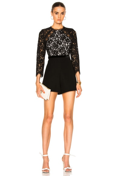 Alexis Tammy Romper in Black & White
