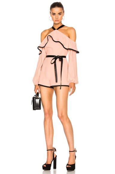 Alexis Hanson Romper in Dusty Rose